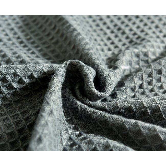 Aubrey Waffle Throw - Dark Grey - 3