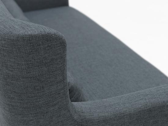 HipVan Bundles - Sofia 3 Seater Sofa and Sofia Armchair - Carbon