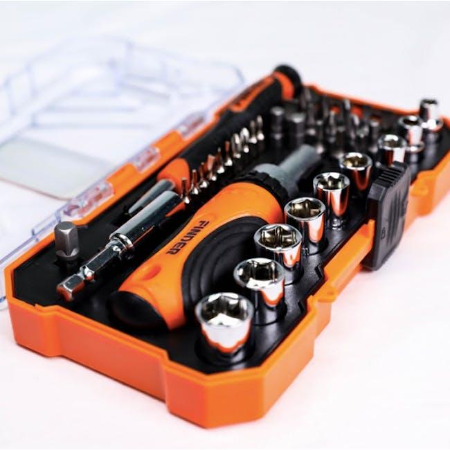 FINDER 38pcs Ratchet Screwdriver & Bits Set - 2