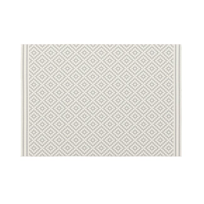 Essenza Flatwoven Rug 2.9m x 2m - Silver Nordic Lozenge - 0