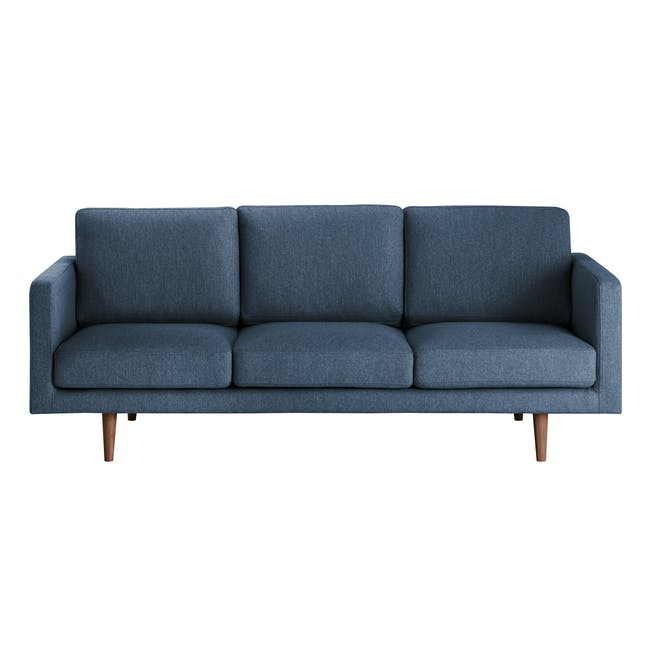 Declan 3 Seater Sofa - Walnut, Admiral Blue - 0