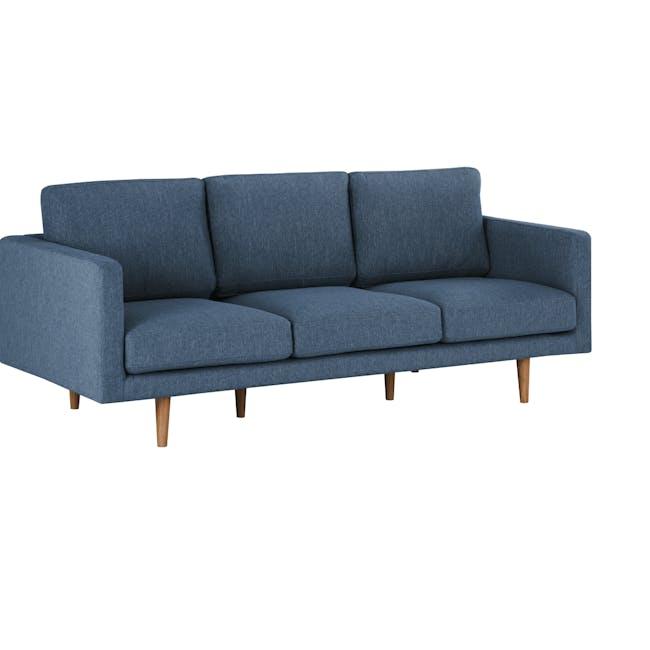 Declan 3 Seater Sofa - Walnut, Admiral Blue - 2