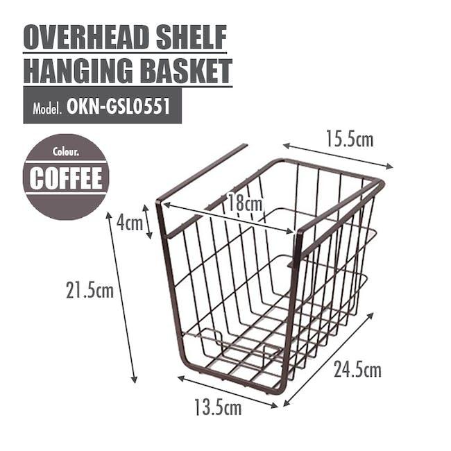 Small Overhead Shelf Hanging Basket - Matt Black - 6