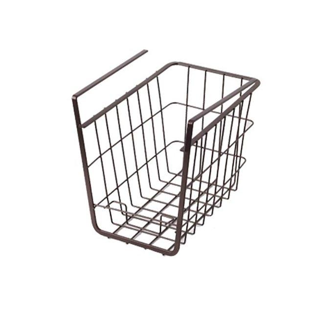 Small Overhead Shelf Hanging Basket - Matt Black - 0