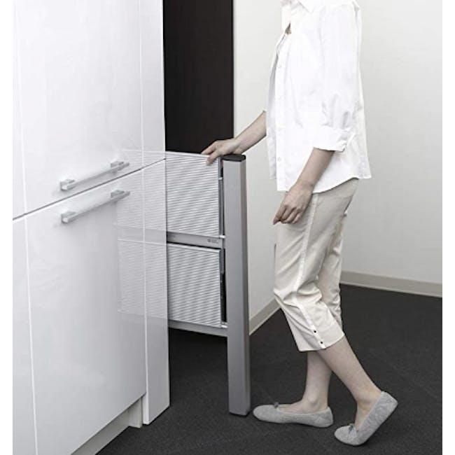 Hasegawa Lucano Slim Aluminium 2 Step Stool - Silver - 2