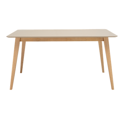 Ralph Dining Table 1.5m with 4 Miranda Dining Chairs - Taupe Grey - Image 2