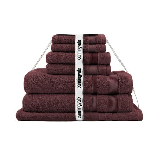 Canningvale Amalfitana 7pc Towel Set - Shiraz - 0