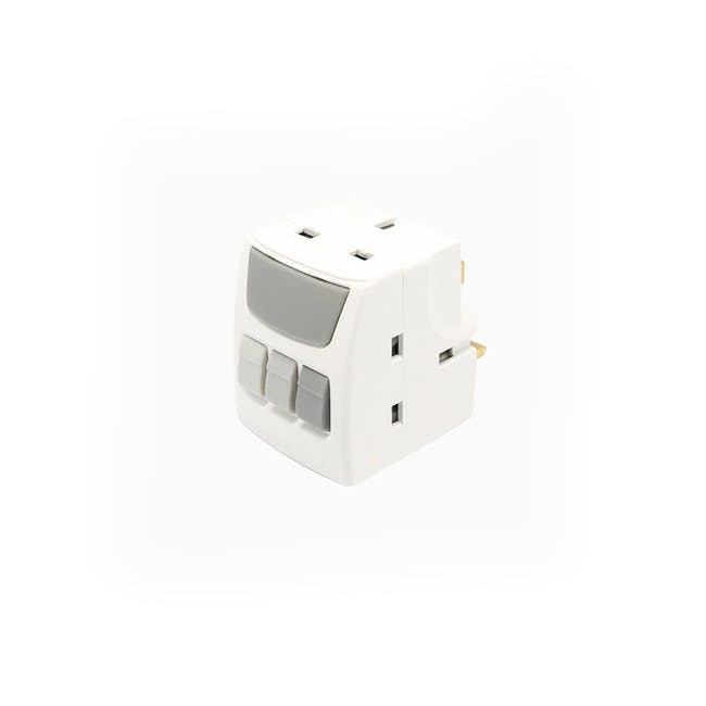 SOUNDTEOH Multiway Adaptor With Individual Switches - 0