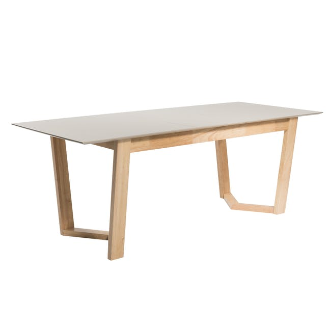 Meera Extendable Dining Table 1.6m - Natural, Taupe Grey - 7