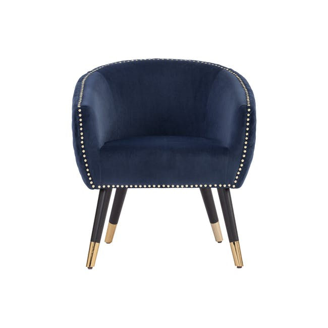 Harper Lounge Chair - Navy (Velvet) - 1