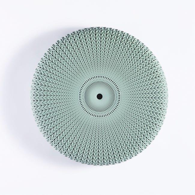 Knit Cozy Outdoor Stool - Foggy Grey - 2