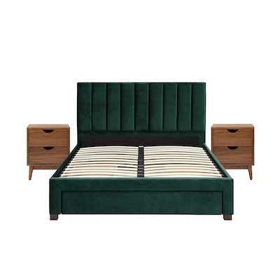 Lexi Queen 3 Drawer Bed In Emerald With 2 Kyoto Twin Drawer
