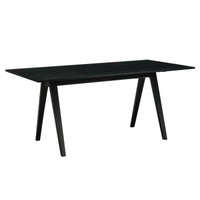 Varden Dining Table 1.7m - Black Ash - Image 1