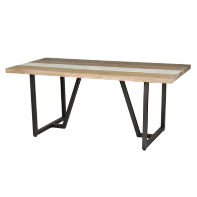 Xavier Dining Table 1.6m with Xavier Bench 1.3m and 2 Xavier Dining Chairs - Image 2