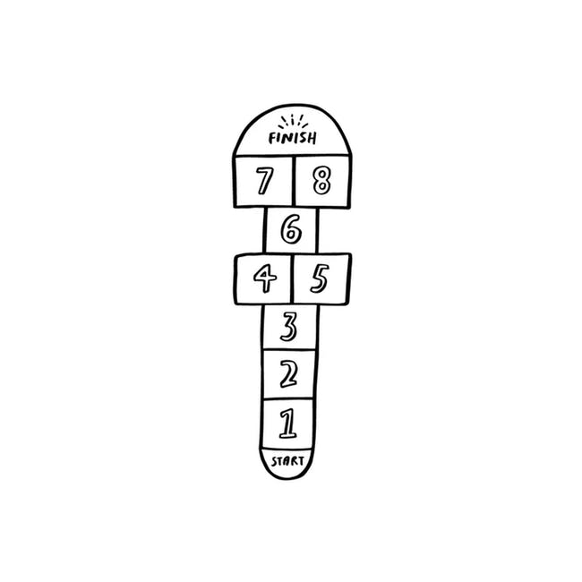 Urban Li'l Hopscotch Fabric Floor Decal - White - 0