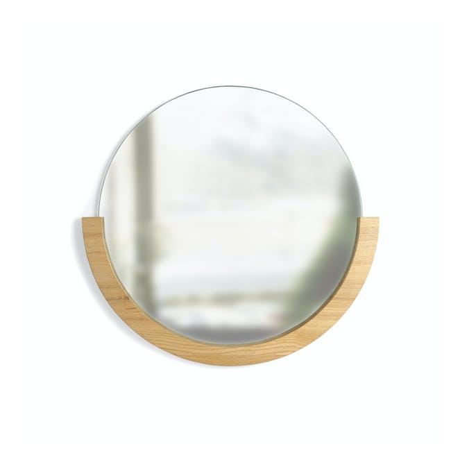 Mira Round Mirror 53 cm - Natural - 0