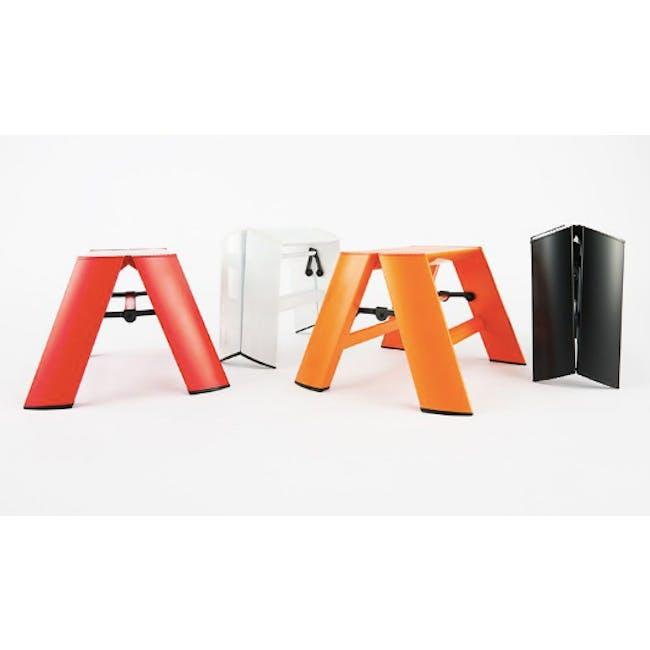 Hasegawa Lucano Aluminium 1 Step Stool - Red - 2