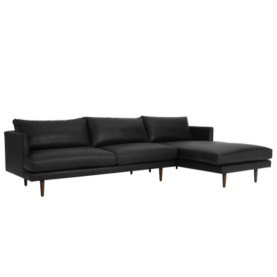 Duster L Shape Sofa - Black (Premium Leather) - Image 2
