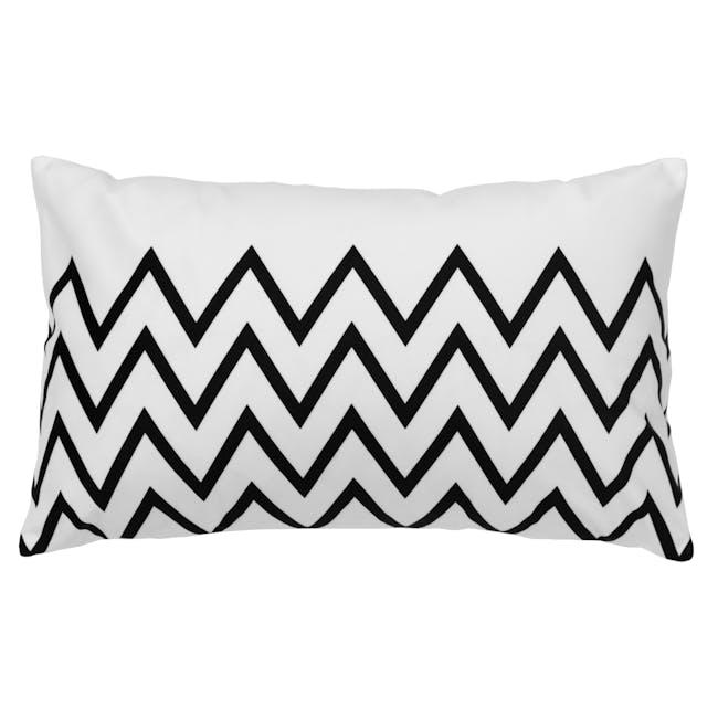 Geo Lumbar Cushion Cover - Chevron - 0