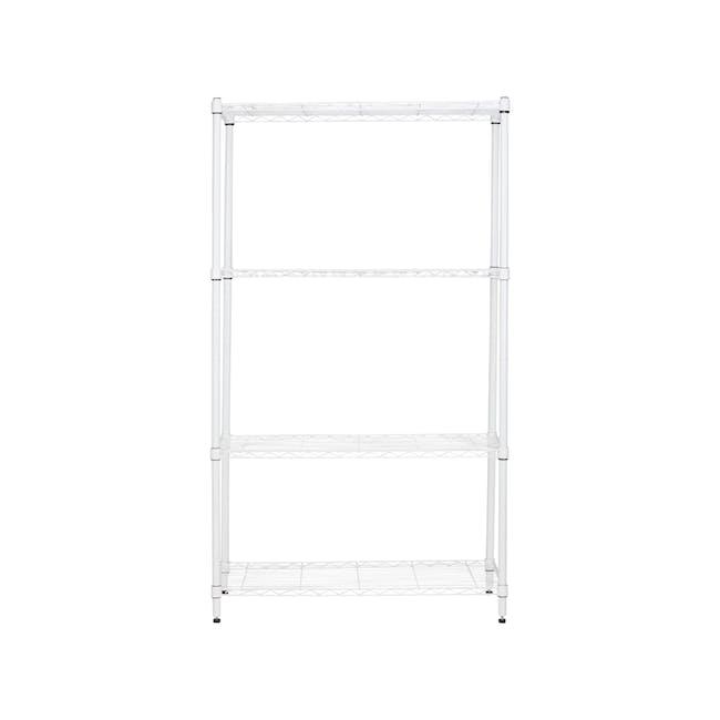 Walden 4-Tier Storage Shelf 90 cm - White - 0