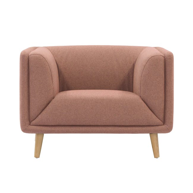 Audrey 2 Seater Sofa with Audrey Armchair - Blush - 1