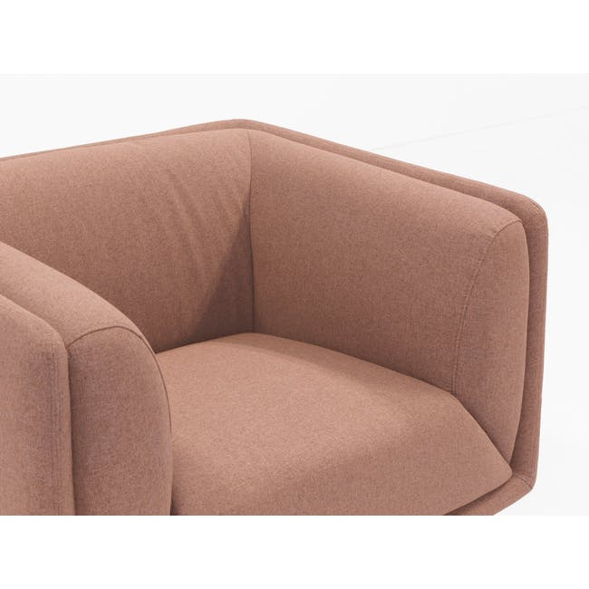 Audrey 2 Seater Sofa with Audrey Armchair - Blush - 2