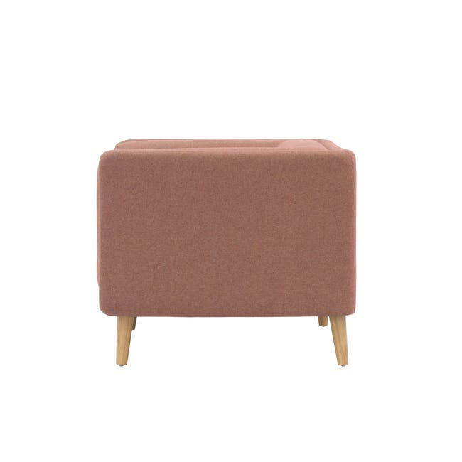 Audrey 2 Seater Sofa with Audrey Armchair - Blush - 4