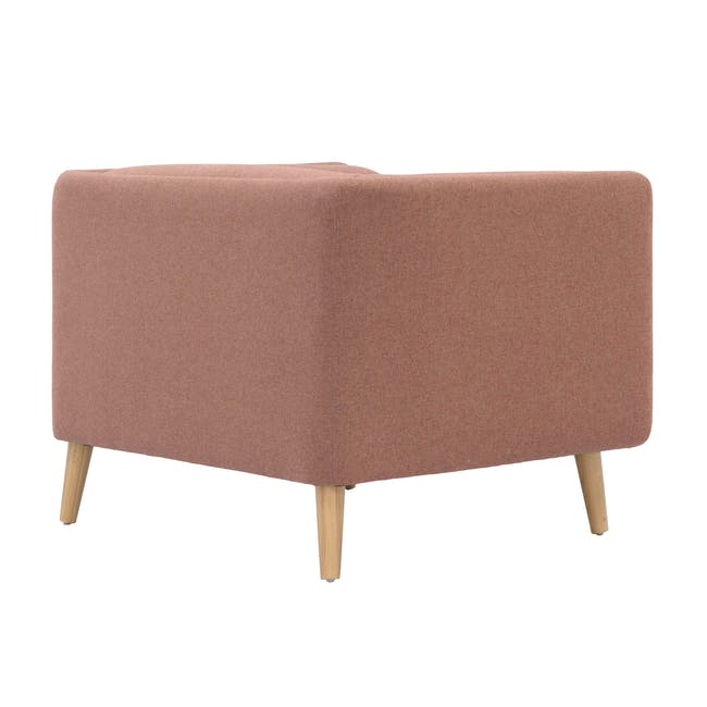Audrey 2 Seater Sofa with Audrey Armchair - Blush - 5