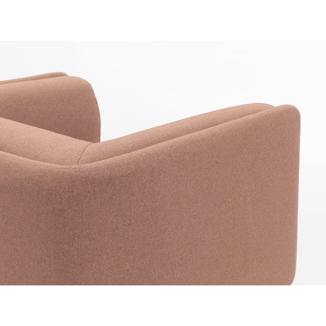 Audrey 2 Seater Sofa with Audrey Armchair - Blush - 6