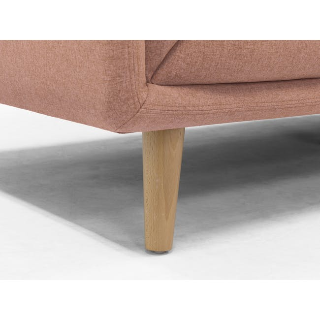 Audrey 2 Seater Sofa with Audrey Armchair - Blush - 7