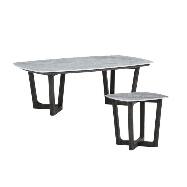 Carson Marble Coffee Table with Carson Marble Side Table - 0