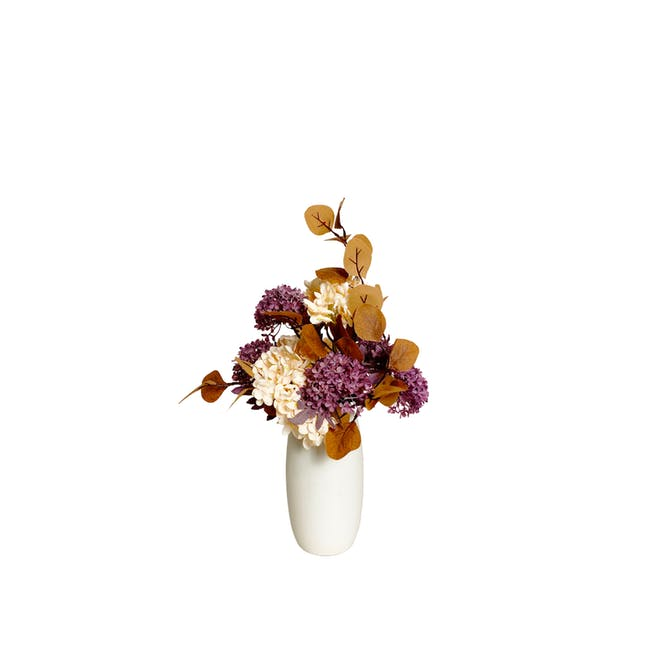 Medium Cylinder Floral Clay Vase - Design 4 - 0