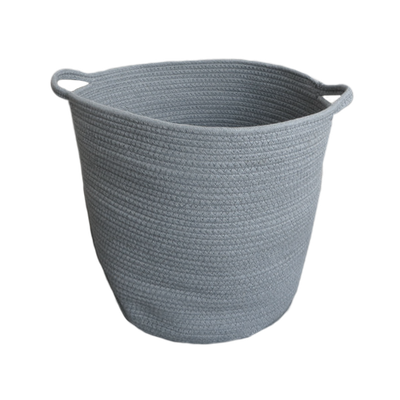 Celine Cotton Rope Bucket - Grey - Image 1