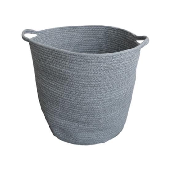 1688 - Celine Cotton Rope Bucket - Grey
