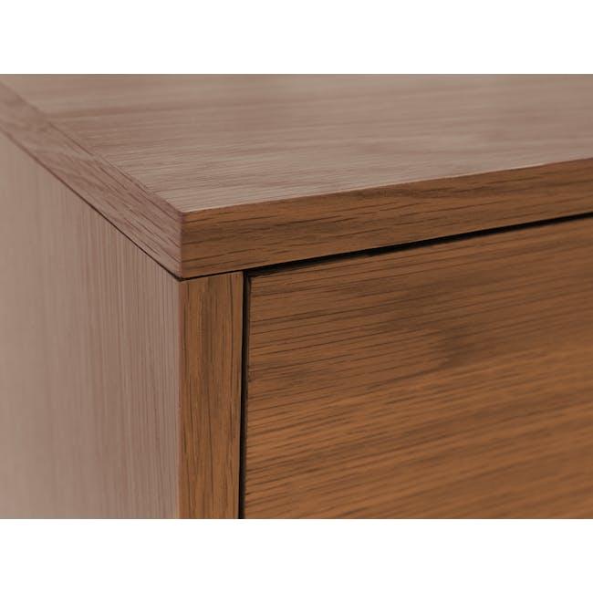 Kyoto Twin Drawer Bedside Table - Walnut - 7