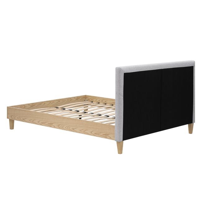 Landon Queen Bed with 2 Kyoto Bottom Drawer Bedside Table in Oak - 6