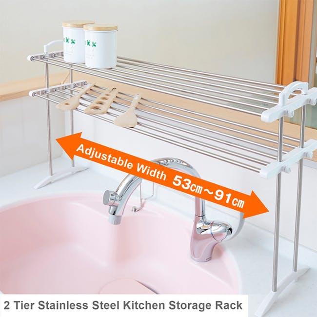 HEIAN 2 Tier Kitchen Storage Rack - 8