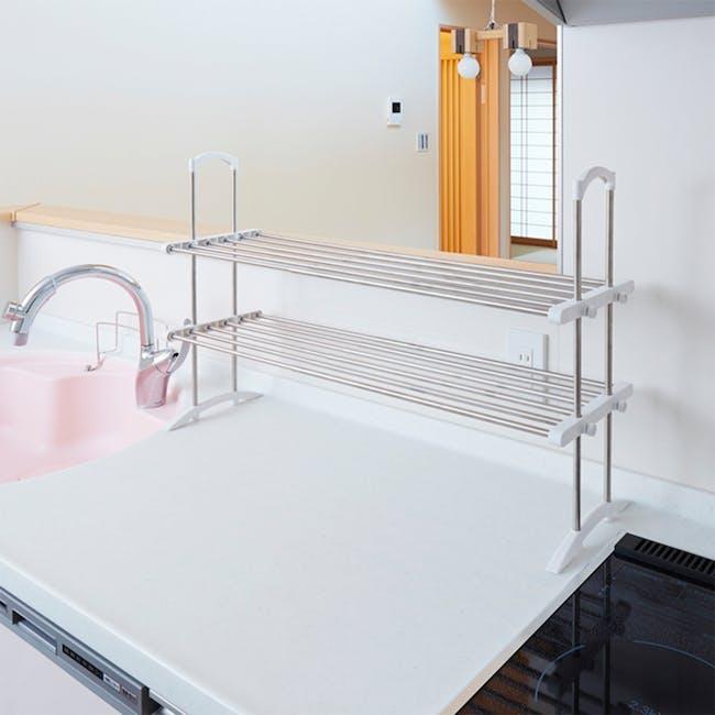 HEIAN 2 Tier Kitchen Storage Rack - 5