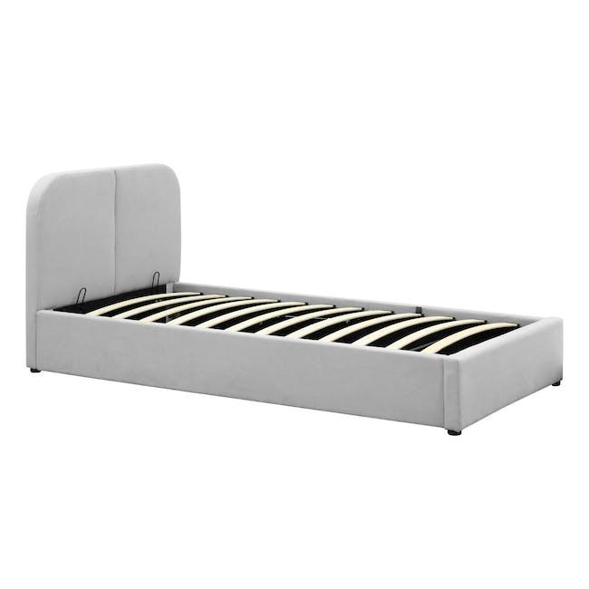 Nolan Single Storage Bed - Silver Fox - 7