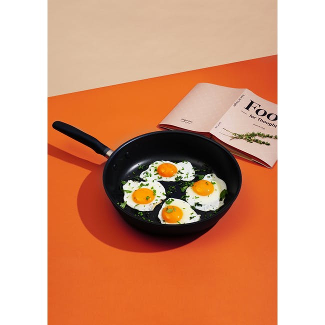 Meyer Accent Series Ultra-Durable Nonstick 26cm Frypan With Lid - 2