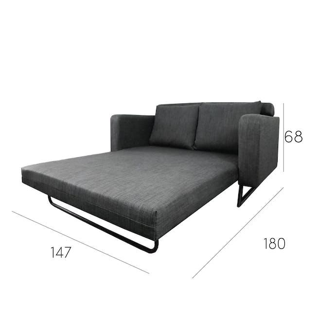 Aikin 2.5 Seater Sofa Bed - Grey - 9