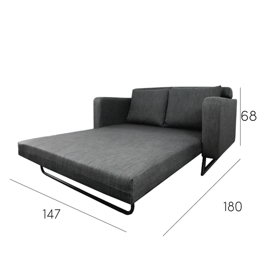 Home And Style Aikin 2 5 Seater Sofa Bed Grey Hipvan
