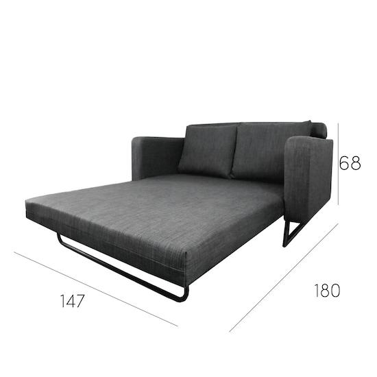 Aikin 2 5 Seater Sofa Bed Grey Home