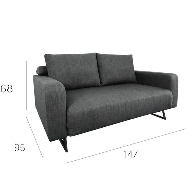 Aikin 2.5 Seater Sofa Bed - Grey - 10