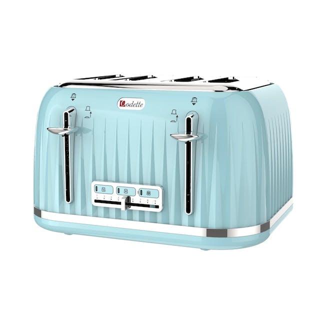 Odette Jukebox 4-Slice Bread Toaster - Mint - 0