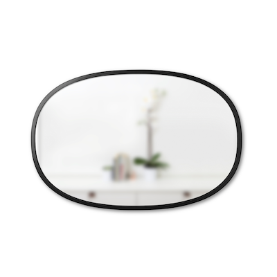 Hub Mirror Oval 61 x 91 cm - Black - Image 1