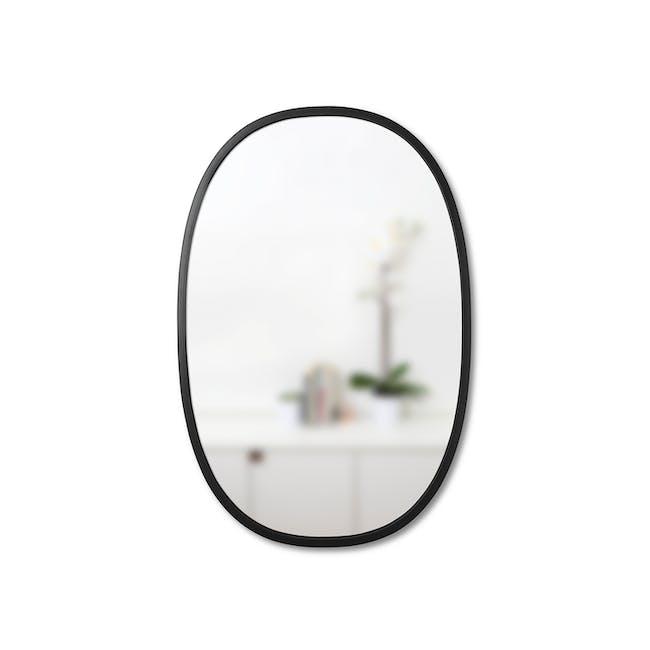 Hub Oval Mirror 61 x 91 cm - Black - 1