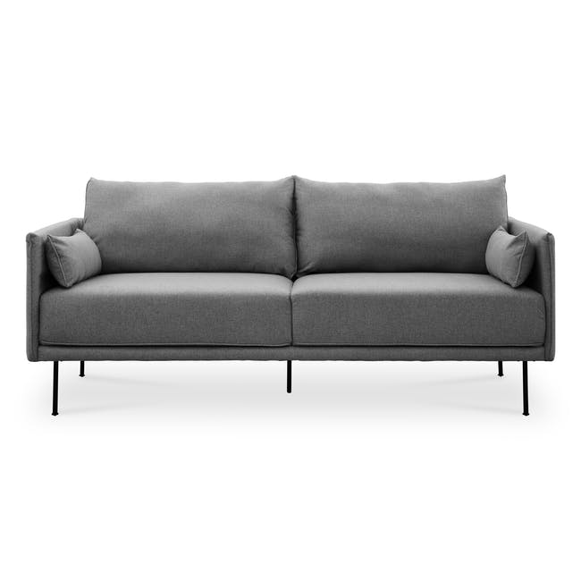 Emerson 3 Seater Sofa - Charcoal Grey - 0