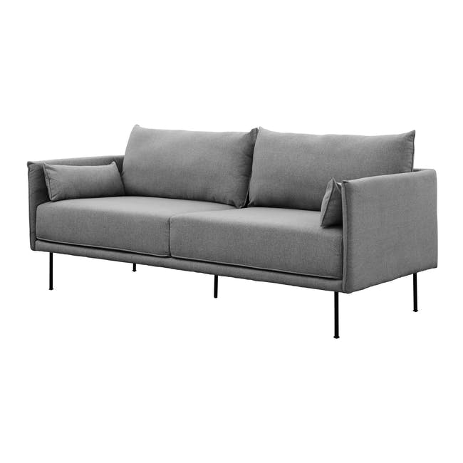 Emerson 3 Seater Sofa - Charcoal Grey - 1