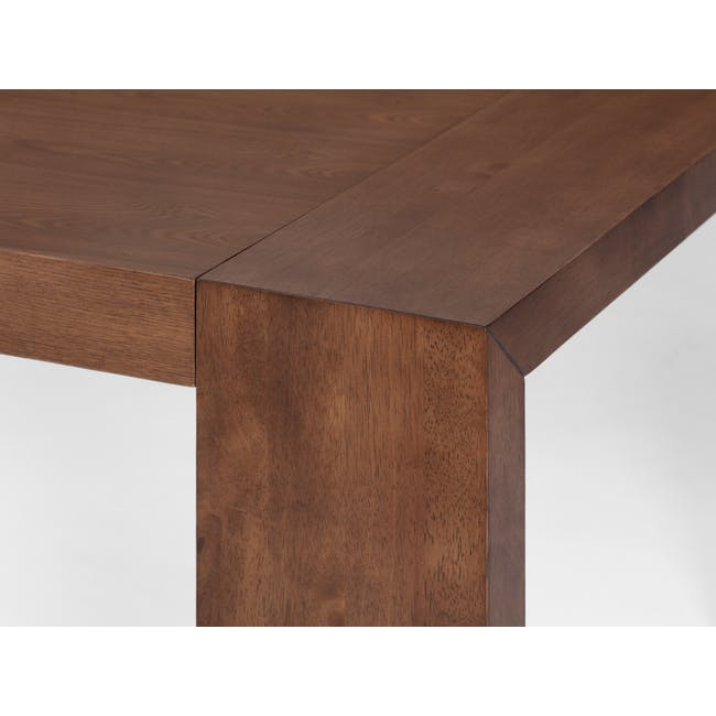 Clarkson Dining Table 2.2m in Cocoa with 4 Fabian Chairs in Cocoa, Dolphin Grey - 5